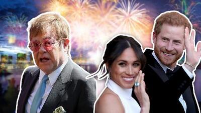 En recuerdo a Lady Diana: Elton John ameniza la recepción de Meghan y Harry