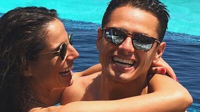 Las fotos más apasionada de Javier 'Chicharito' Hernández y su novia