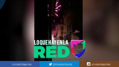 ¿Desvelados? Aficionados del Stade de Rennais estallaron cohetones en el hotel del Betis
