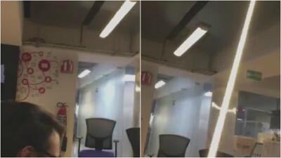 En video: Empleados de oficinas en México reportan el sismo dentro de edificios