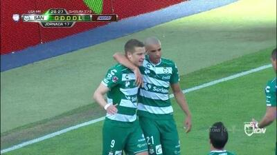 ¡GOOOL! Julio Furch anota para Santos Laguna