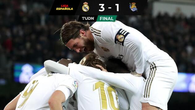 Real Madrid vence a la Real Sociedad con gran actuación de Luka Modric