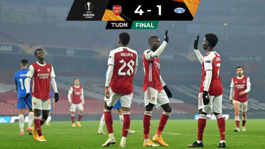 Arsenal golea al Molde en la Europa League