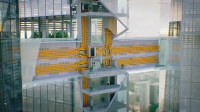 Los nuevos ascensores ya no tendrán cables y podrán moverse horizontalmente