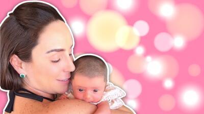 Así luce María, la hija de Inés Gómez Mont, a un mes de nacida