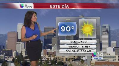 Los Ángeles tendrá un miércoles con calor intenso