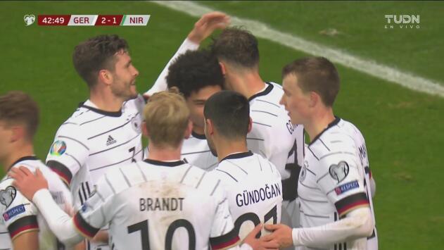 ¡Carambola! Alemania se pone 2-1 arriba con el gol de Leon Goretzka