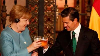 Merkel y Peña Nieto convergen en un mensaje político opuesto a Trump