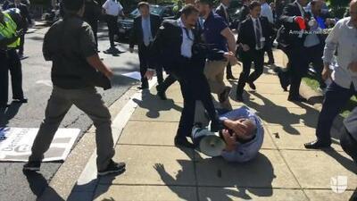 Manifestantes antiErdogan fueron agredidos por la seguridad del presidente turco en Washington