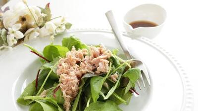Ensalada de espinacas con atún | Reto 28