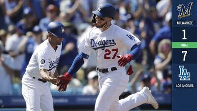 Alex Verdugo conecta homerun en triunfo de Dodgers