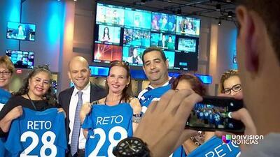 Detrás de cámaras: participantes del Reto 28 visitan Univision