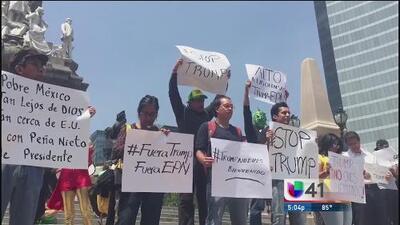 Protestas por visita de Donald Trump a México