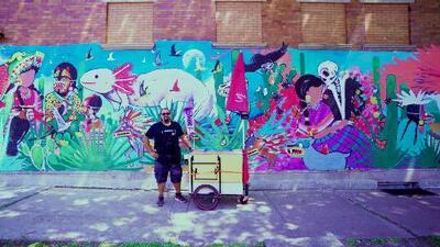 """""""Usar el arte para movilizarnos contra cosas que nos están afectando"""", este artista da talleres gratuitos"""