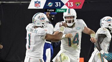 Fitzmagic comanda primera victoria de Dolphins a costa de Jaguars