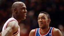 Michael Jordan e Isiah Thomas intercambian frases duras