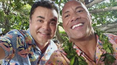 Reportero de El Gordo y La Flaca conmueve a 'La Roca' al contarle cómo le ayudó (sin saberlo) a cumplir su sueño