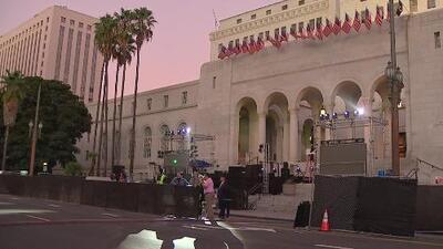 Todo listo para la celebración de la Independencia de México en el Ayuntamiento de Los Ángeles