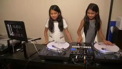 A un lado Gianluca Vacchi: estas gemelas de 11 años son DJ's profesionales