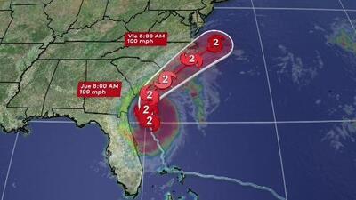 Dorian continúa su trayectoria rumbo al norte y las condiciones mejoran considerablemente en Bahamas