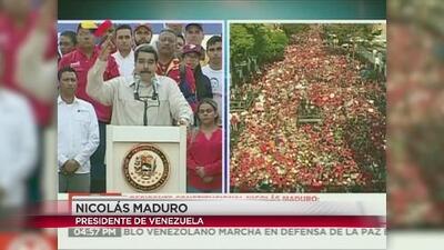 Se manifiestan a favor del gobierno de Maduro