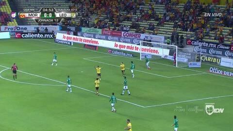 ¡GOOOL! Andrés Mosquera anota para León