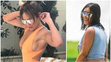 JLo presume sus curvas en traje de baño melocotón, dejando sin aliento hasta a Kim Kardashian
