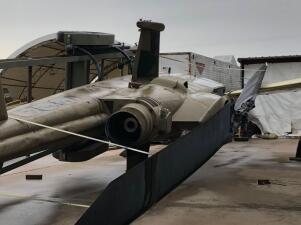Daños por las tormentas en el Museo de la Aviación de Fort Worth