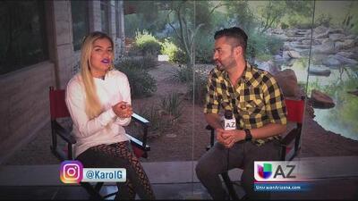 Karol G de visita en Univision Arizona