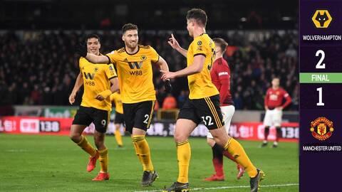 Con una asistencia de Raúl Jiménez, los Wolves derrotaron al Manchester United
