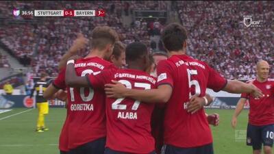 Goool del Bayern! Goretzka la manda al rincón y ganan 1-0 al Sttutgart