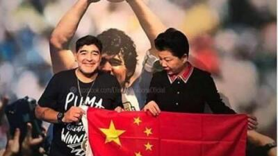 Diego Armando Maradona anunció que será nuevo embajador de la Super Liga China