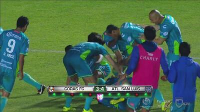 San Luis pasa a semifinales de la Copa MX al vencer en penales a Coras