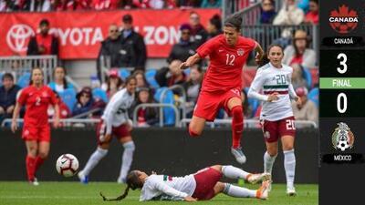 El Tri femenil cae goleado en partido amistoso ante Canadá