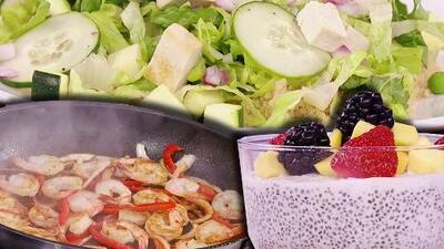 Tres recetas saludables con chía, camarón y quinoa para mantenerte satisfecho y lleno de energía