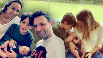 El bebé de Patricio Borghetti y Odalys Ramírez deja de llorar cuando conoce a Santino, su medio hermano