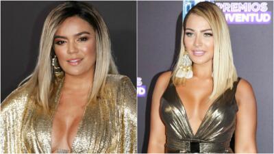 Karol G y Migbelis Castellanos se vistieron (casi) iguales a su llegada a Premios Juventud