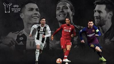 Messi, Cristiano y Van Dijk, nominados al Jugador de la UEFA