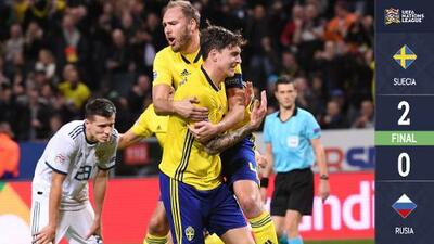 ¡Fuerza Vikinga! Suecia venció a Rusia y es de Liga A