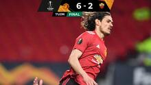Manchester United y un Cavani preciso destrozan a la Roma