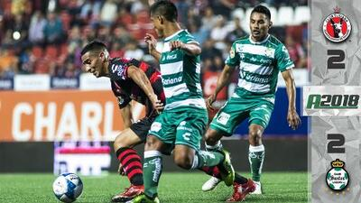 ¡Cierre de locura en la frontera! Xolos y Santos empatan con goles sobre la hora