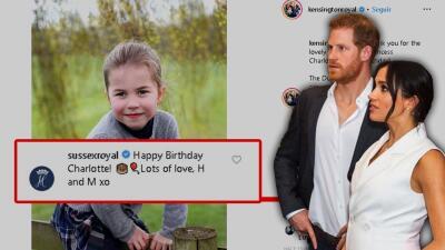 Meghan Markle y el príncipe Harry están en problemas con los fans de su sobrina, la princesa Charlotte