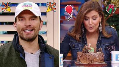 DAEnUnMinuto: Julián Gil llegó directo de la fiesta, y celebramos el cumpleaños de Marcela Sarmiento