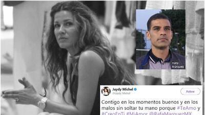 Jaydy Michel por fin sale a demostrarle apoyo a su esposo Rafael Márquez