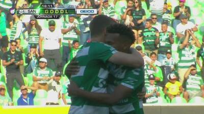 Estos fueron los goles del 5-2 entre Santos Laguna y Pumas