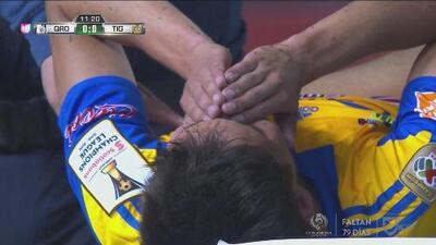 Jurgen Damm sufre terrible lesión en el Querétaro vs. Tigres y debe abandonar la cancha