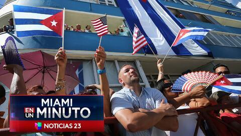 'Miami en un Minuto': residentes se reunieron puntos clave de Miami para apoyar y rechazar  la nueva política de Trump frente a Cuba
