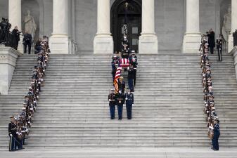 En fotos: la emotiva despedida de Washington al expresidente George H.W. Bush