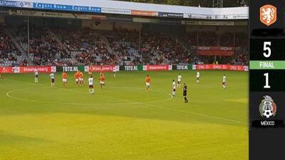 ¡Para llorar! Holanda Sub 21 golea y exhibe al Tri Sub 22 de cara al Torneo de Toulon