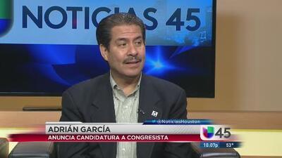 Adrián García presentó su candidatura al congreso